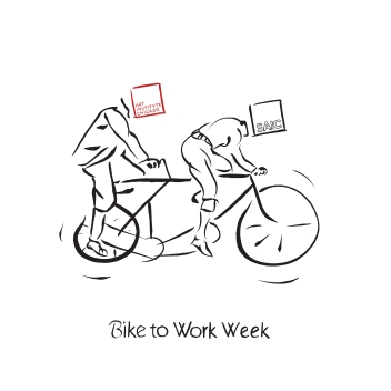 isolated bike to work week logo