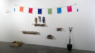 installation view of stephanie's instructionals at sullivan galleries in chicago