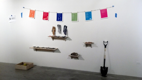 installation view of stephanie's instructionals at sullivan galleries in chicago