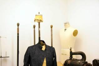 dress forms in sewing room